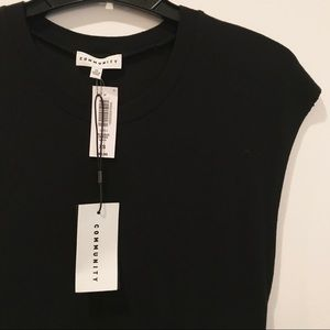 Aritzia Dresses - NWT Aritzia Stretchy Black Cap-Sleeved Dress XS 0